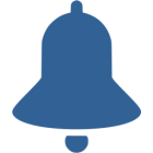A notification bell icon
